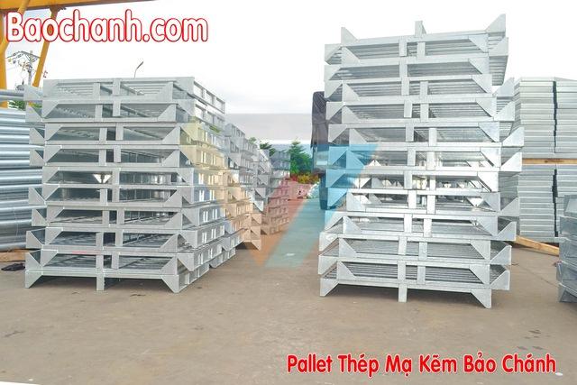 Pallet thép Bảo Chánh - Giá kệ kho hàng tại HCM